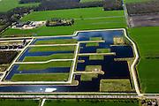 Nederland, Friesland, Gemeente Smallingerland, 01-05-2013; ten westen van Drachten, voormalige landelijk gebied tussen Boornbergum en De Wilgen, nu gedeeltelijk bebouwd en in ontwikkeling. Niet alle kavels zijn in gebruik.<br /> Empty lots in former rural area in Drachten West. <br /> luchtfoto (toeslag op standard tarieven);<br /> aerial photo (additional fee required);<br /> copyright foto/photo Siebe Swart