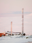 The cable car station and visitor centre on top of Mount Storsteinen at Tromso, Norway