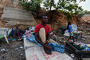 Daniel Quaye, 25, fisherman contemplates the future of the harbor project while demolitions are underway.<br /> -<br /> .Demolitions continued on Thursday, May 21, 2020, to make way for the construction of a multi-million dollar fishing harbour in Jamestown, Ghana, with funds granted by the Chinese government. Work is expected to commence immediately after the Accra Metropolitan Assembly, clears out the area. Some displaced residents however feel that the exercise could have waited till the spread of the coronavirus disease (COVID-19) was under control. <br /> -<br /> Jamestown, Ghana. May 21, 2020. Photos: Francis Kokoroko