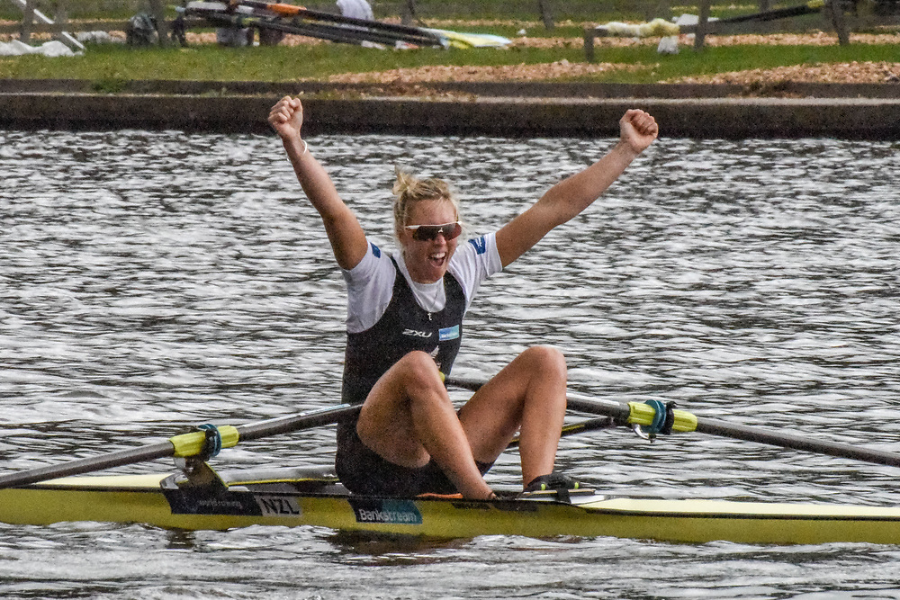 NZL W1x  Emma TWIGG – 1st place 7:14.95 SUN 31 AUG 2014<br /> <br /> Crews racing the World Championships on The Bosbaan, Amsterdam, The Netherlands, 29/30/31 August 2014  Copyright photo © Steve McArthur / @rowingcelebration www.rowingcelebration.com