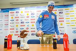 Rok Perko during press conference of Slovenian Ski Association - SZS R. Perko placed second at ski downhill in Val Gardena (ITA), on December 18, 2012 in Ljubljana, Slovenia. (Photo By Vid Ponikvar / Sportida.com)