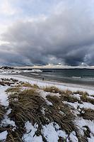 Norway, Sola. Winter at Solastranden beach.