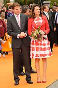 Koninginnedag 2010 . De Koninklijke familie in het zeeuwse  Middelburg. / Queensday 2010. De Royal Family in Middelburg.<br /> <br /> op de foto / on the photo : Prins Floris en Prinses Aimee