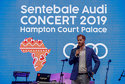 Britain's Prince Harry attends a concert hosted by his charity Sentebale at Hampton Court Palace, in London, Tuesday June 11, 2019. The concert will raise funds and awareness for Sentebale, the charity founded by Prince Harry and Lesotho's Prince Seeiso in 2006, to support children and young people affected by HIV and AIDS in Lesotho, Botswana and Malawi. Prince Harry greets Rita Ora. REF - MD EXPRESS SYNDICATION +44 (0)20 8612 7884/7903/7661 +44 (0)20 7098 2764 NO ONLINE MOBILE OR DIGITAL USE WITHOUT PRIOR PERMISSION *** Local Caption *** No digital use of this image unless agreed with Express Syndication or Licensed agent of Express prior to usage. Non cleared usage will be charged at treble space rates NO UK SALES FOR 28 DAYS. NO GETTY SALES. 11 Jun 2019 Pictured: Britain's Prince Harry attends a concert hosted by his charity Sentebale at Hampton Court Palace, in London, Tuesday June 11, 2019. The concert will raise funds and awareness for Sentebale, the charity founded by Prince Harry and Lesotho's Prince Seeiso in 2006, to support children and young people affected by HIV and AIDS in Lesotho, Botswana and Malawi. Prince Harry greets Rita Ora. REF - MD EXPRESS SYNDICATION +44 (0)20 8612 7884/7903/7661 +44 (0)20 7098 2764 NO ONLINE MOBILE OR DIGITAL USE WITHOUT PRIOR PERMISSION *** Local Caption *** No digital use of this image unless agreed with Express Syndication or Licensed agent of Express prior to usage. Non cleared usage will be charged at treble space rates NO UK SALES FOR 28 DAYS. NO GETTY SALES. Photo credit: MD/EXPRESS SYNDICATION / MEGA TheMegaAgency.com +1 888 505 6342