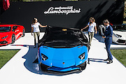 August 14-16, 2012 - Pebble Beach / Monterey Car Week. Lamborghini Aventador SV unveiled by CEO Stephan Winkelmann