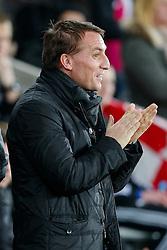 Liverpool Manager Brendan Rodgers looks on - Photo mandatory by-line: Rogan Thomson/JMP - 07966 386802 - 16/03/2015 - SPORT - FOOTBALL - Swansea, Wales — Liberty Stadium - Swansea City v Liverpool - Barclays Premier League.