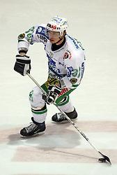 Pasi Petrilainen of Olimpija at ice hockey match Acroni Jesencie vs ZM Olimpija in second round of final of Slovenian National Championship,  on April 5, 2008 in Arena Podmezaklja, Jesenice, Slovenia. Acroni Jesenice won the game 6:1 and lead the series 2:0.  (Photo by Vid Ponikvar / Sportal Images)