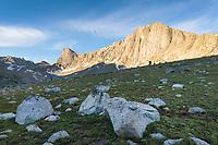 Pronghorn and Dragon Head Peaks, near Lee Lake, Bridger Wilderness. Wind River Range, Wyoming