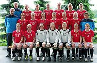 Fotball<br /> Norge<br /> 10.06.2011<br /> Foto: Morten Olsen, Digitalsport<br /> <br /> Lagbilde Norge kvinner<br /> <br /> Back L-R: Hans Knutsen - Ingrid Ryland - Madeleine Giske - Gry Tofte Ims - Isabell Herlovsen - Lene Mykjåland - Maren Mjelde<br /> Middle L-R: Espen Granli - Runa Vikestad - Cecilie Pedersen - Ingvild Stensland - Nora Holstad Berge - Elise Thorsnes - Marita Skammelsrud Lund - Eli Landsem<br /> Front L-R: Hedda Strand Gardsjord - Leni Larsen Kaurin - Caroline Knutsen - Ingrid Hjelmseth - Erika Skarbø - Trine Rønning - Emilie Bosshard Haavi <br /> <br /> Lisa-Marie Woods og Guro Knutsen Mienna was not present
