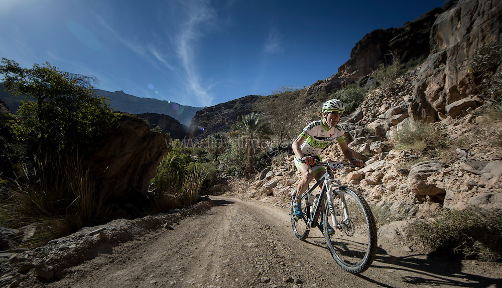 The Trans Hajar Mountain Bike Race 2015<br /> Stage 2 and the longest trail section of the race.<br /> Credit: Lloyd Images