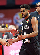 NANJING,CHINA:SEPTEMBER 5th 2019.FIBA World Cup Basketball 2019 Group phase match.Group F. New Zealand vs Greece. Shooting Guard, Corey WEBSTER is welcomed on the sidelinesPhoto by Jayne Russell / www.PhotoSport.nz