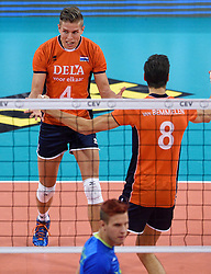 Thijs ter Horst #4 during volleyball match between National teams of Netherlands and Slovenia in Playoff of 2015 CEV Volleyball European Championship - Men, on October 13, 2015 in Arena Armeec, Sofia, Bulgaria. Photo by Ronald Hoogendoorn / Sportida