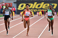 Kimberly HIACINTE CAN, Jamile SAMUEL NED, Gloria HOOPER ITA 100m Women B Race <br /> Roma 03-06-2016 Stadio Olimpico <br /> IAAF Diamond League Golden Gala <br /> Atletica Leggera<br /> Foto Andrea Staccioli / Insidefoto