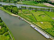 Nederland, Utrecht, Nieuwegein; 14–05-2020; Lekkanaal en Schalkwijkse Wetering. Boven in beeld Amsterdam-Rijnkanaal en de Plofsluis. Het Lekkanaal is verbreed, monumentale objecten van de Nieuw Hollandse Waterlinie (NHW) zijn (deels) verplaatst en zichtbaar gemaakt.<br /> Lek channel and Schalkwijkse Wetering. The Lek Canal has been widened, monumental objects of the New Holland Water Line (NHW) have been (partly) moved and made visible.<br /> <br /> luchtfoto (toeslag op standaard tarieven);<br /> aerial photo (additional fee required)<br /> copyright © 2020 foto/photo Siebe Swart
