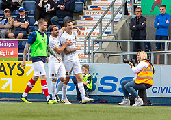 Livingston Lyndon Dykes (9) cele scoring their first half goal. half time : Falkirk 0 v 1 Livingston, BetFred Cup game played 13/7/2019 at The Falkirk Stadium.