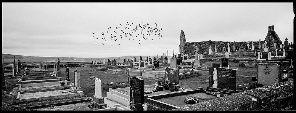 Cemetery and old church The Burren, Galway, Ireland, July 2002