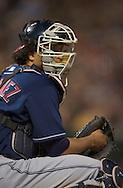 Image © 2005 David Richard<br />Cleveland Indians catcher Victor Martinez