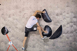 Domen Skofic during training competition of Slovenian National Climbing team before new season, on June 30, 2020 in Koper / Capodistria, Slovenia. Photo by Vid Ponikvar / Sportida