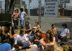 Think we got there early? Bet your ass we did. My friends waiting (all day) for the gates to open before the Grateful Dead perform Live at Dillon Stadium, Hartford, CT 31 July 1974. Band played with the Wall of Sound.