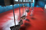 mechanical feet on a lagares vat to push down the cap quinta do seixo sandeman douro portugal