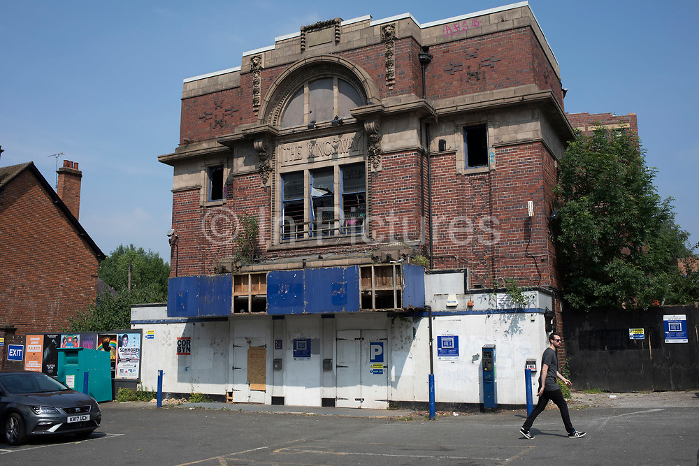 The Kingsway, a derelict former cinema in Kings Heath, Birmingham, United Kingdom. The Kingsway cinema built in the 1920s and later housed a bingo hall, closed its doors in 2010 and was burnt out in a fire in 2011, destroying 80 per cent of its interior. There are possible plans to turn this into residential apartments.