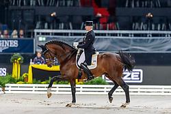 SCHMIDT Hubertus (GER), Escolar<br /> Stuttgart - German Masters 2019<br /> Preis der Firma Stihl<br /> Int. Dressurprüfung - CDI4*<br /> Aufgabe: FEI Grand Prix 2009, Rev. 2014<br /> Qualifikation zum Grand Prix Special<br /> 16. November 2019<br /> © www.sportfotos-lafrentz.de/Stefan Lafrentz