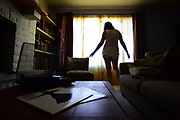 """Jasmin Hayes sways to """"Landslide"""" by Fleetwood Mac, her favorite band, in her home in Tucson, Arizona on April 23, 2015. After being sexually assaulted shortly before her high school graduation six years ago, the song has become a """"safe zone"""" for her and something that is, """"always going to be there for [her] when [she] needs it to be."""""""