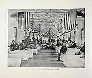 """U. S. ARflY HOSPITAL, ALEXANDRIA, VA., 1863 from The American Civil War book and Grant album : """"art immortelles"""" : a portfolio of half-tone reproductions from rare and costly photographs designed to perpetuate the memory of General Ulysses S. Grant, depicting scenes and incidents in connection with the Civil War Published  in Boston and New York by W. H. Allen in 1894"""