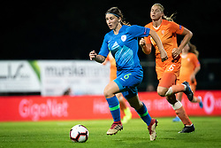 Kaja Korošec of Slovenia during football match between Slovenia and Nederland in qualifying Round of Woman's qualifying for EURO 2021, on October 5, 2019 in Mestni stadion Fazanerija, Murska Sobota, Slovenia. Photo by Blaž Weindorfer / Sportida