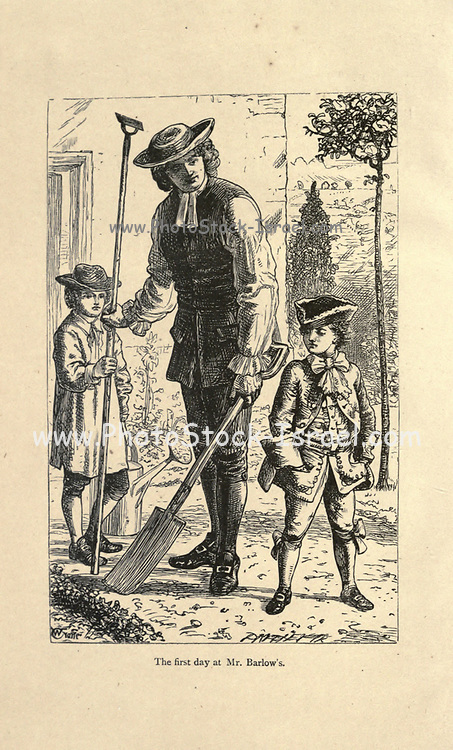 The First Day at Mr. Barlow From the Book ' The history of Sandford and Merton ' by Thomas Day, 1748-1789; with original illustrations by Walter Crane, 1845-1915; Edward, Dalziel, 1817-1905; George Dalziel, 1815-1902 Published in London by Frederick Warne & Co., Bedford Street, Strand in 1890