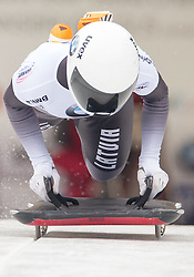 19.02.2016, Olympiaeisbahn Igls, Innsbruck, AUT, FIBT WM, Bob und Skeleton, Damen, Skeleton, 1. Lauf, im Bild Lelde Priedulena (LAT) // Lelde Priedulena of Latvia competes during women Skeleton 1st run of FIBT Bobsleigh and Skeleton World Championships at the Olympiaeisbahn Igls in Innsbruck, Austria on 2016/02/19. EXPA Pictures © 2016, PhotoCredit: EXPA/ Johann Groder