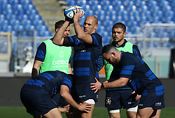 February 8, 2019 - Rome, Italy - Italy captain's run - Rugby Guinness Six Nations .Italy rugby team training captain's run in view of the match versus Wales. Sergio Parisse at Olimpico Stadium in Rome, Italy on February 8, 2019. (Credit Image: © Matteo Ciambelli/NurPhoto via ZUMA Press)