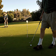 Residents of Laguna Woods Village, formerly known as Leisure World, enjoy the late afternoon at the retirement community.