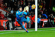 Petr Cech (33) of Arsenal makes a save from a free kick during the Premier League match between Bournemouth and Arsenal at the Vitality Stadium, Bournemouth, England on 3 January 2017. Photo by Graham Hunt.