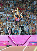 Olympic Stadium, Stratford, London, United Kingdom<br /> <br /> Description:<br /> <br /> 2012 London Olympic, Athletics, GB  Pole Vaulter LEWIS Steven. <br /> <br /> 21:30:35  Friday  10/08/2012 [Mandatory Credit: Peter Spurrier/Intersport Images]
