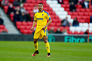 Wimbledon forward Kwesi Appiah (9)  during the EFL Sky Bet League 1 match between Sunderland and AFC Wimbledon at the Stadium Of Light, Sunderland, England on 2 February 2019.