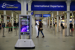 © Licensed to London News Pictures. 13/03/2020. London, UK. Less busy St Pancras International departures amid an increased number of Coronavirus (COVID-19) cases in the UK. 798 cases have been tested positive and ten patients have died from the virus in the UK. Photo credit: Dinendra Haria/LNP
