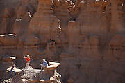 SHOT 10/19/16 1:41:55 PM - Emery County Utah tourism photos including hiking and exploring Goblin Valley including an arch rappel, the Black Dragon Canyon and  mountain biking Saucer Basin with Lamar Guymon. (Photo by Marc Piscotty / © 2016)
