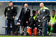 Millwall Manager Ian Holloway sharing a joke with the Fourth Official Charles Breakspear. Skybet football league championship match , Millwall v Cardiff city at the Den in Millwall, London on Saturday 25th October 2014.<br /> pic by John Patrick Fletcher, Andrew Orchard sports photography.