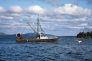 Lobster Boat Anchored in Bar Harbor, Acadia National Park, Maine