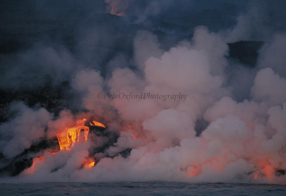 Volcanic Eruption<br /> February 1995<br /> Cabo Hammond, Fernandina Island. GALAPAGOS, ECUADOR<br /> South America