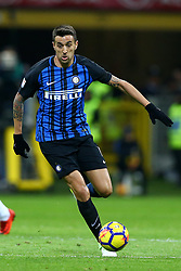 January 21, 2018 - Milan, Italy - Matas Vecino of Internazionale  during the Serie A match between FC Internazionale and AS Roma at Stadio Giuseppe Meazza on January 21, 2018 in Milan, Italy. (Credit Image: © Matteo Ciambelli/NurPhoto via ZUMA Press)