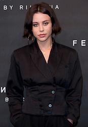 Billie JD Porter arrives at the Fenty Beauty by Rihanna launch party at Harvey Nichols, Knightsbridge, London,