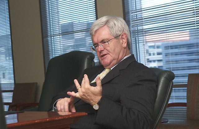 Former speaker of the house Newt Gingrich speaks to members of HOR Today, the magazine  for the Human Resources Outsourcing Industry on Friday July 30, 2004.
