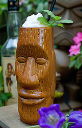 The Road to Hana is a tiki drink created by Tom Chadwick of dram in Brooklyn, NY.  The Road to Hana contains Rum, Banana nectar, Coco Lopez crème de coconut, maraschino liqueur, angostura bitters.