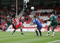 Photo: Lee Earle.<br /> Brentford v Bradford City. Coca Cola League 1. 02/09/2006. Brentford's Jo Kuffour (L) scores the winning goal.