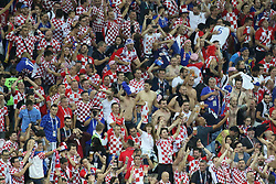 July 11, 2018 - Moscow, Russia - July 11, 2018, Moscow, FIFA World Cup 2018 Football, the playoff round. 1/2 finals of the World Cup. Football match Croatia - England at the stadium Luzhniki. Player of the national team fans; fans; spectators. (Credit Image: © Russian Look via ZUMA Wire)