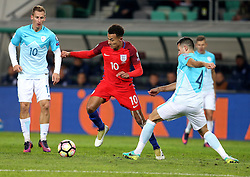 Dele Alli of England goes past Miral Samardzic of Slovenia - Mandatory by-line: Robbie Stephenson/JMP - 11/10/2016 - FOOTBALL - RSC Stozice - Ljubljana, England - Slovenia v England - World Cup European Qualifier