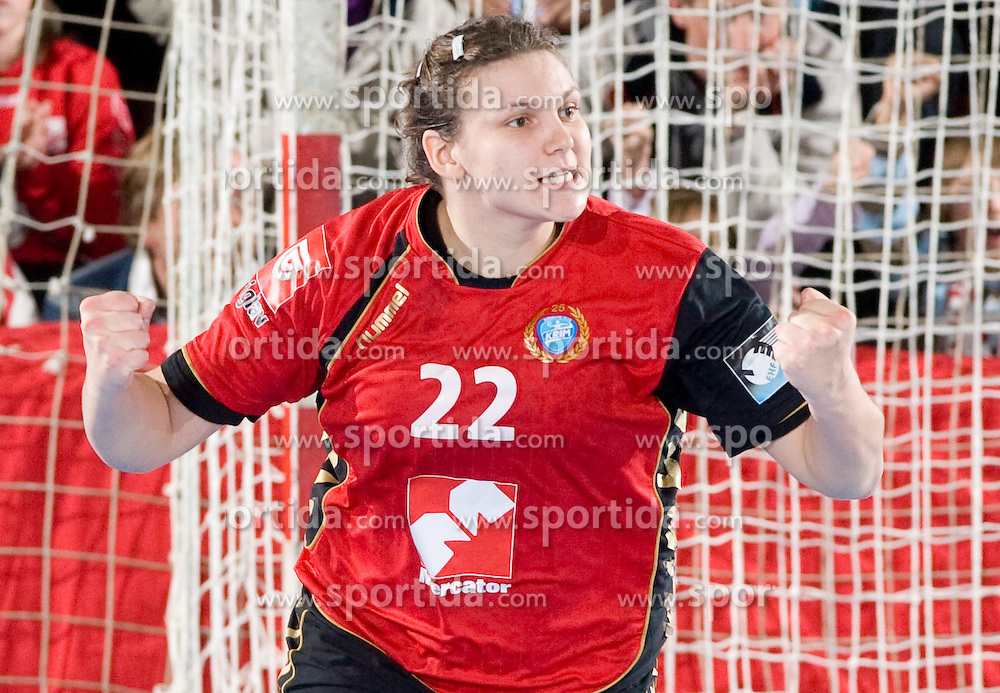 Dragana Cvijic of Krim at handball match of Round 3 of Champions League between RK Krim Mercator and Hypo Niederosterreich, on November 8, 2009, in Arena Kodeljevo, Ljubljana, Slovenia.  Krim won 35:24. (Photo by Vid Ponikvar / Sportida)