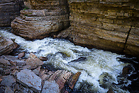 Rushing water, Ausable River, Ausable Chasm, New York.